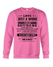 LOVE- BOYFRIEND- H07 Crewneck Sweatshirt thumbnail