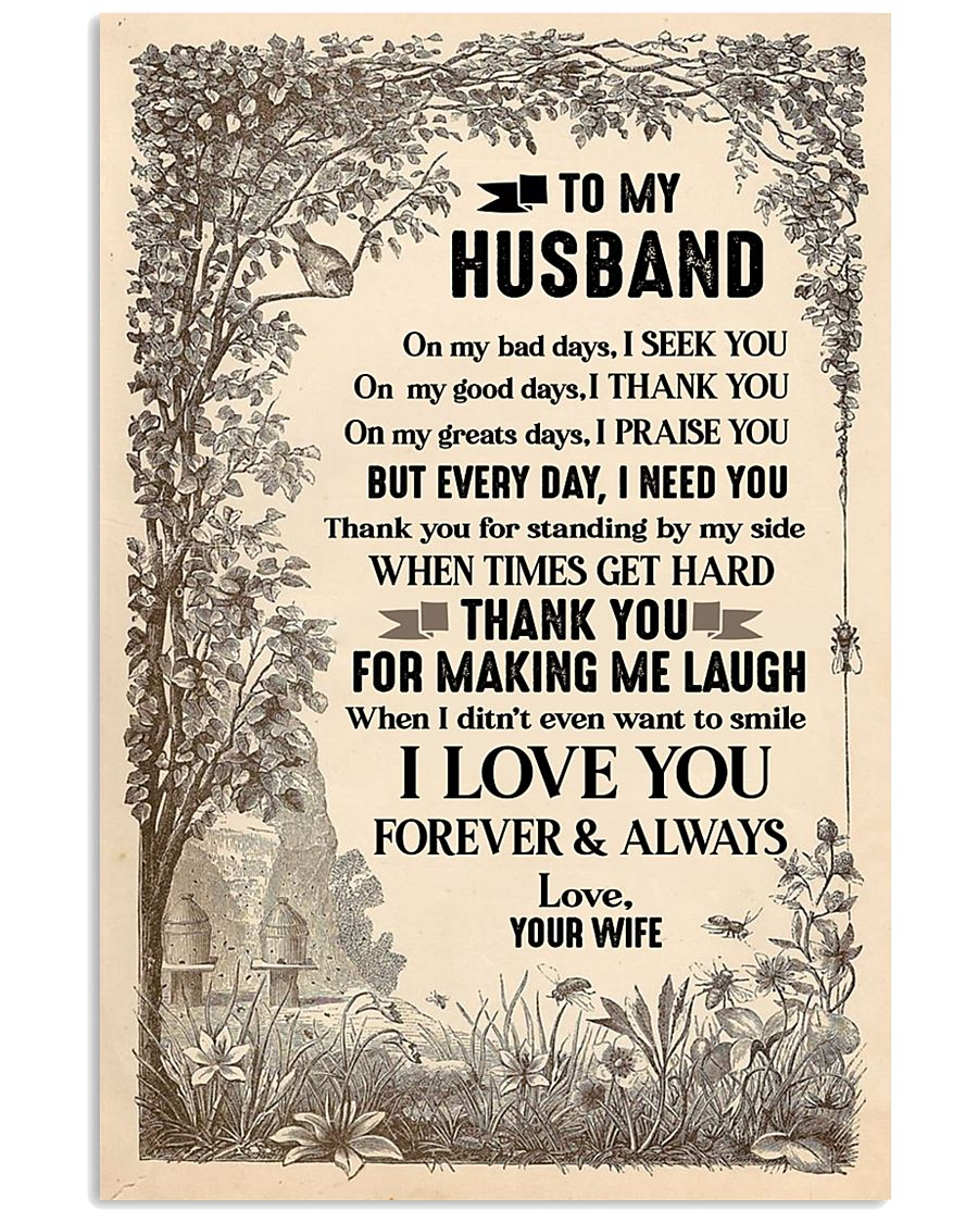 Special gift for husband - C 16x24 Poster