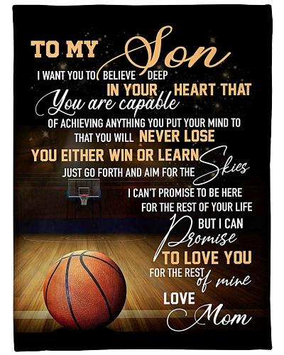 TO MY DEAR SON- BALL BLANKET