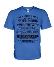 I'm a lucky man W - D12 December V-Neck T-Shirt thumbnail