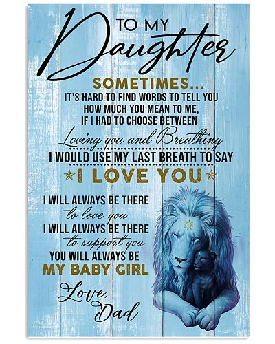 DAD TO  DAUGHTER