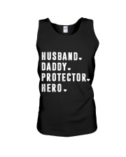 Husband - Daddy - Protector - Hero Unisex Tank thumbnail