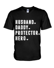 Husband - Daddy - Protector - Hero V-Neck T-Shirt thumbnail