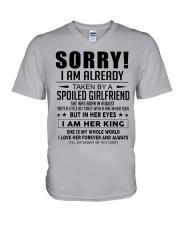 Spoiled Girlfriend H08 V-Neck T-Shirt thumbnail