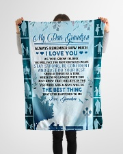 """To my dear grandson never forget that i love you Small Fleece Blanket - 30"""" x 40"""" aos-coral-fleece-blanket-30x40-lifestyle-front-14"""