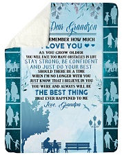 """To my dear grandson never forget that i love you Large Sherpa Fleece Blanket - 60"""" x 80"""" thumbnail"""