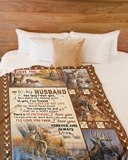 """To my husband with love Large Fleece Blanket - 60"""" x 80"""" aos-coral-fleece-blanket-60x80-lifestyle-front-02"""