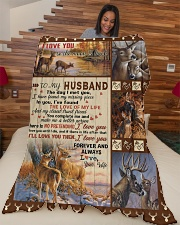 """To my husband with love Large Fleece Blanket - 60"""" x 80"""" aos-coral-fleece-blanket-60x80-lifestyle-front-04"""
