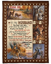 """To my husband with love Large Fleece Blanket - 60"""" x 80"""" front"""