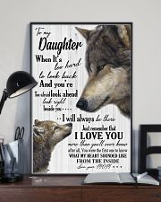 Sweet gift to my daughter i will always be there 11x17 Poster lifestyle-poster-2