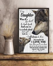 Sweet gift to my daughter i will always be there 11x17 Poster lifestyle-poster-3