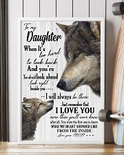 Sweet gift to my daughter i will always be there 11x17 Poster lifestyle-poster-4