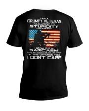 I'm A Grumpy Veteran - I Love My Country V-Neck T-Shirt thumbnail