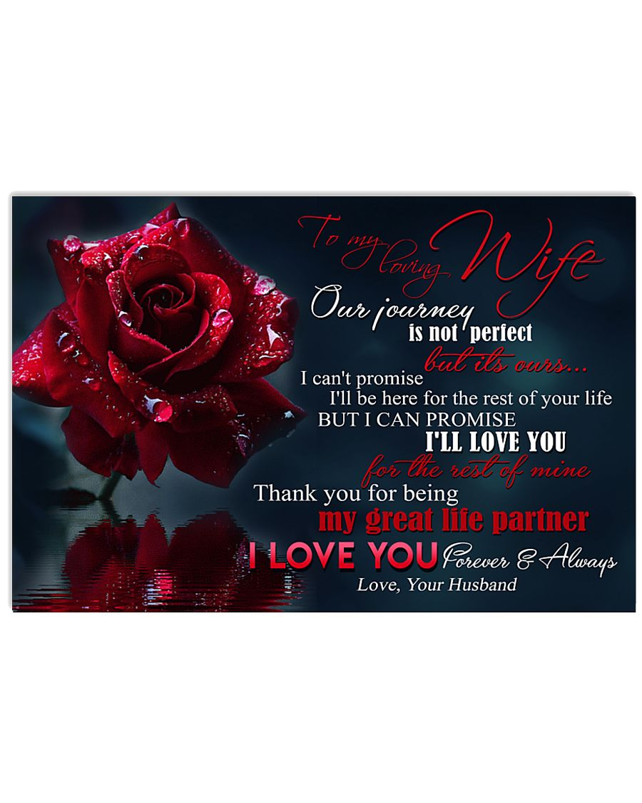 Special gift for your wife  24x16 Poster