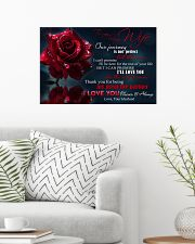 Special gift for your wife  24x16 Poster poster-landscape-24x16-lifestyle-01