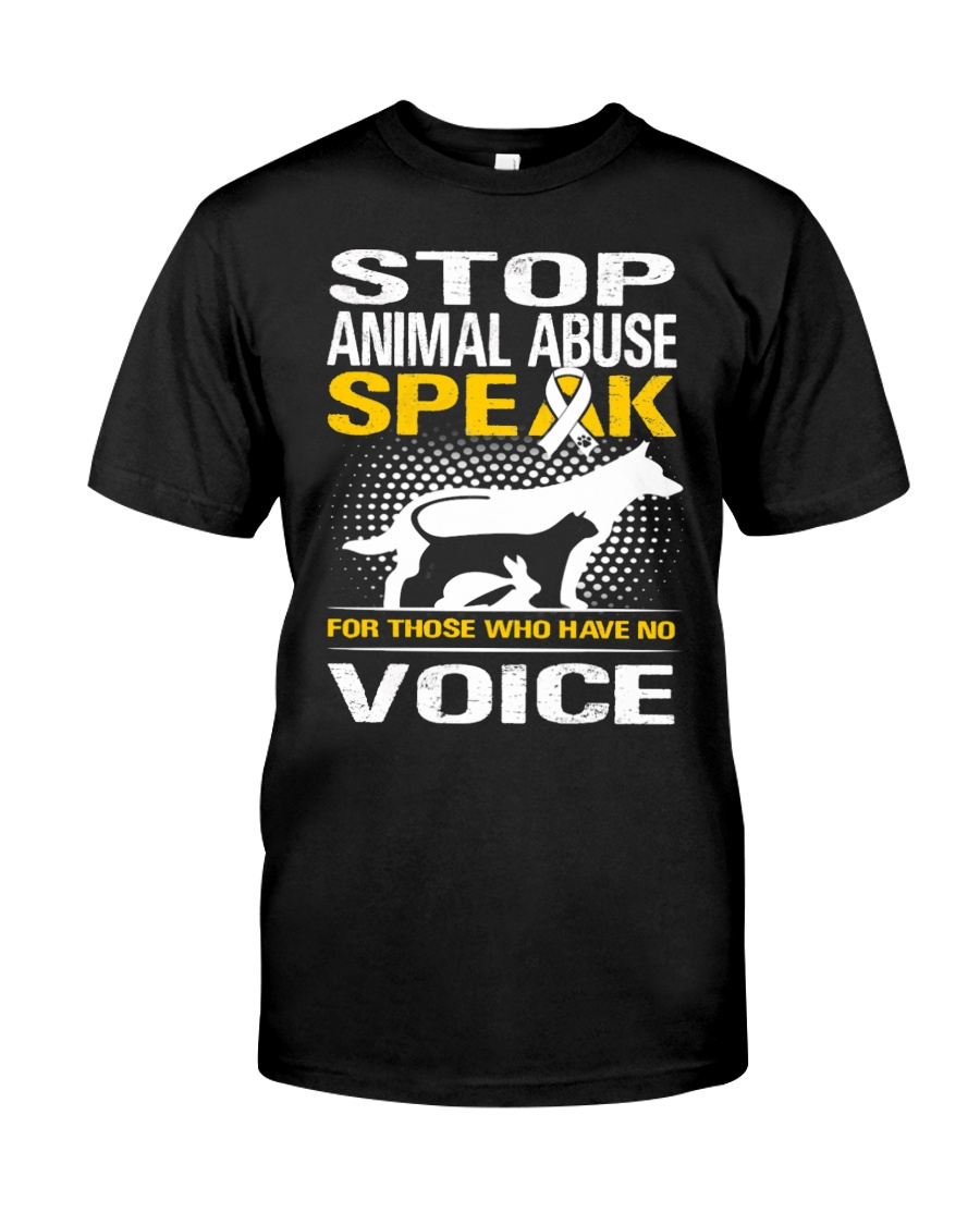 Stop animal abuse - D Classic T-Shirt