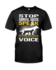 Stop animal abuse - D Classic T-Shirt front