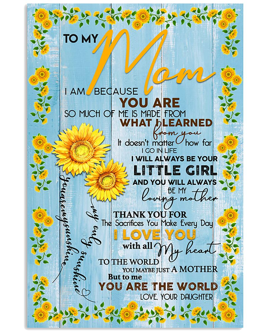 Special gift for MOM - DAUGHTER 11x17 Poster