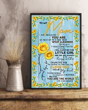 Special gift for MOM - DAUGHTER 11x17 Poster lifestyle-poster-3