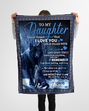 "To my daughter never forget that i love you gift Small Fleece Blanket - 30"" x 40"" aos-coral-fleece-blanket-30x40-lifestyle-front-14"