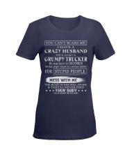 Gifts for wife: I have a grumpy husband- dec 12 Ladies T-Shirt women-premium-crewneck-shirt-front
