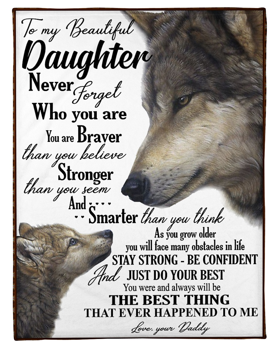 """To my daughter never forget who you are Small Fleece Blanket - 30"""" x 40"""""""