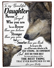 """To my daughter never forget who you are Small Fleece Blanket - 30"""" x 40"""" front"""