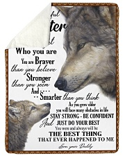 """To my daughter never forget who you are Large Sherpa Fleece Blanket - 60"""" x 80"""" thumbnail"""