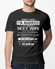 Sorry ladies - I'm married - APRIL Classic T-Shirt lifestyle-mens-crewneck-front-13