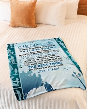 """My dear son always remember how much i love you Small Fleece Blanket - 30"""" x 40"""" aos-coral-fleece-blanket-30x40-lifestyle-front-01"""