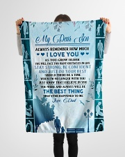 """My dear son always remember how much i love you Small Fleece Blanket - 30"""" x 40"""" aos-coral-fleece-blanket-30x40-lifestyle-front-14"""
