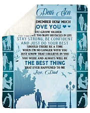 "My dear son always remember how much i love you Sherpa Fleece Blanket - 50"" x 60"" thumbnail"