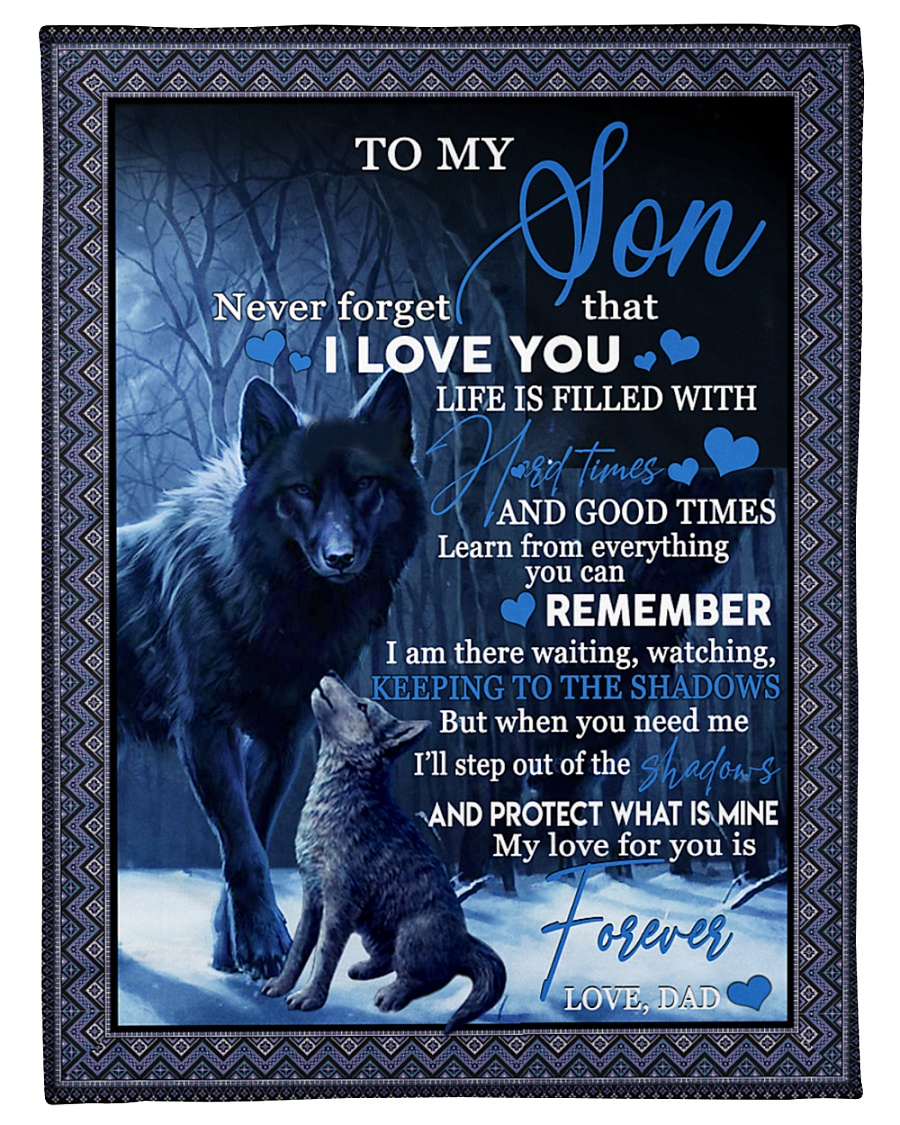 "To my son never forget that i love you gift Small Fleece Blanket - 30"" x 40"""
