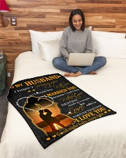 """To my husband with love Small Fleece Blanket - 30"""" x 40"""" aos-coral-fleece-blanket-30x40-lifestyle-front-08"""