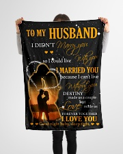 """To my husband with love Small Fleece Blanket - 30"""" x 40"""" aos-coral-fleece-blanket-30x40-lifestyle-front-14"""