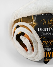 """To my husband with love Small Fleece Blanket - 30"""" x 40"""" aos-coral-fleece-blanket-30x40-lifestyle-front-18"""