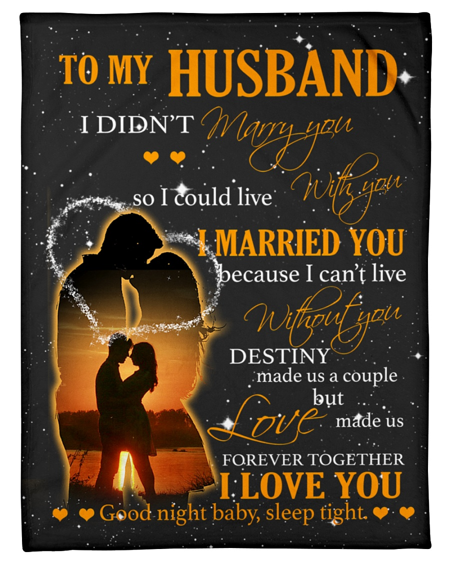 """To my husband with love Small Fleece Blanket - 30"""" x 40"""""""