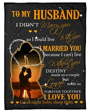 """To my husband with love Small Fleece Blanket - 30"""" x 40"""" front"""