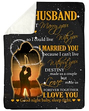 """To my husband with love Large Sherpa Fleece Blanket - 60"""" x 80"""" thumbnail"""