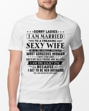 I am married to an awesome wife gift for husband Classic T-Shirt lifestyle-mens-crewneck-front-13