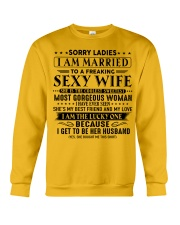 I am married to an awesome wife gift for husband Crewneck Sweatshirt thumbnail