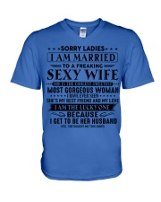 I am married to an awesome wife gift for husband V-Neck T-Shirt thumbnail