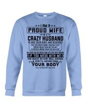 I AM A PROUD WIFE OF A CRAZY HUSBAND S-0 Crewneck Sweatshirt thumbnail