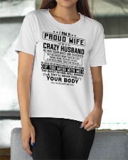 I AM A PROUD WIFE OF A CRAZY HUSBAND S-0 Ladies T-Shirt apparel-ladies-t-shirt-lifestyle-front-11