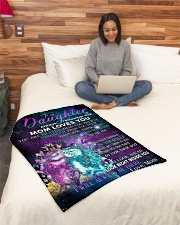"""Special gift for your Daughter Small Fleece Blanket - 30"""" x 40"""" aos-coral-fleece-blanket-30x40-lifestyle-front-08"""