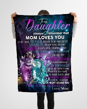 """Special gift for your Daughter Small Fleece Blanket - 30"""" x 40"""" aos-coral-fleece-blanket-30x40-lifestyle-front-14"""