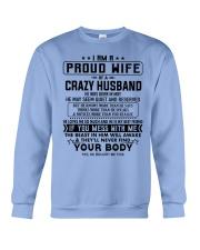 I AM A PROUD WIFE OF A CRAZY HUSBAND S-5 Crewneck Sweatshirt thumbnail