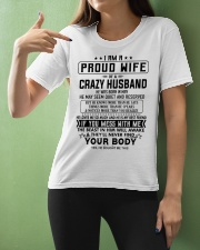 I AM A PROUD WIFE OF A CRAZY HUSBAND S-5 Ladies T-Shirt apparel-ladies-t-shirt-lifestyle-front-10