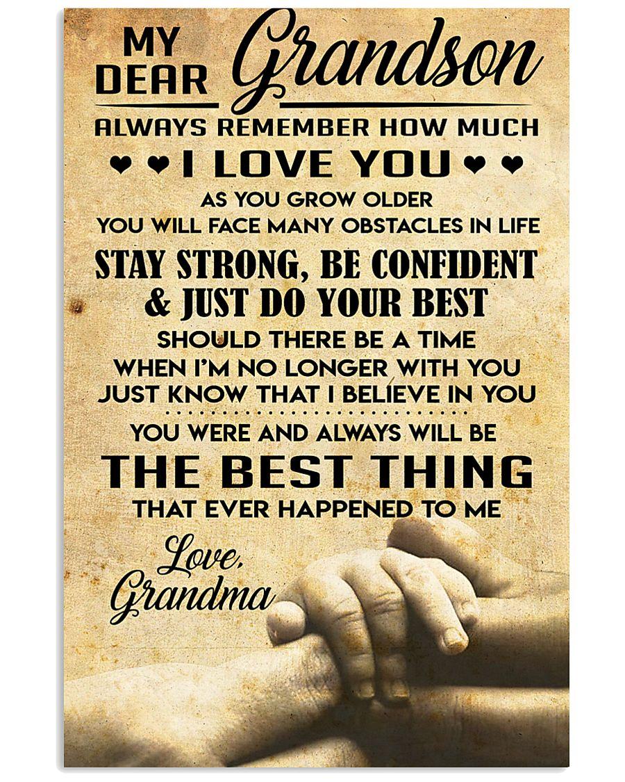 Grandson gift 11x17 Poster