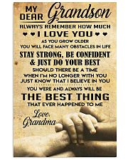 Grandson gift 11x17 Poster front